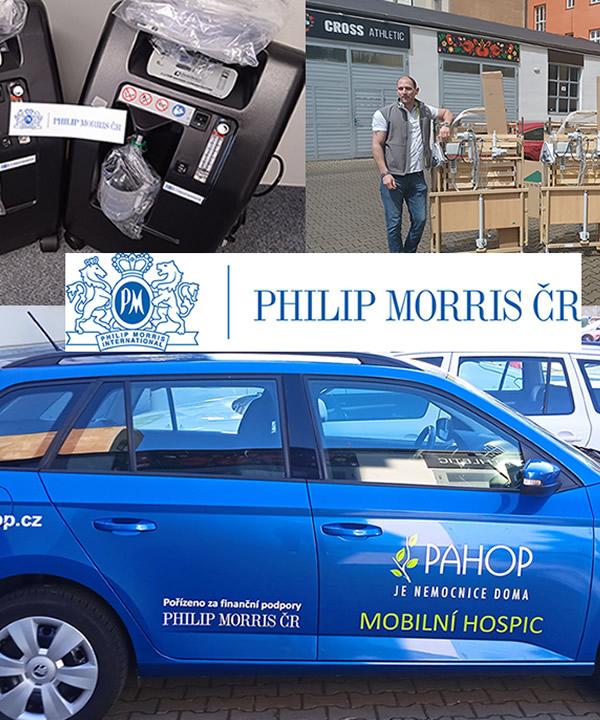 PHILIP MORRIS pomáhá